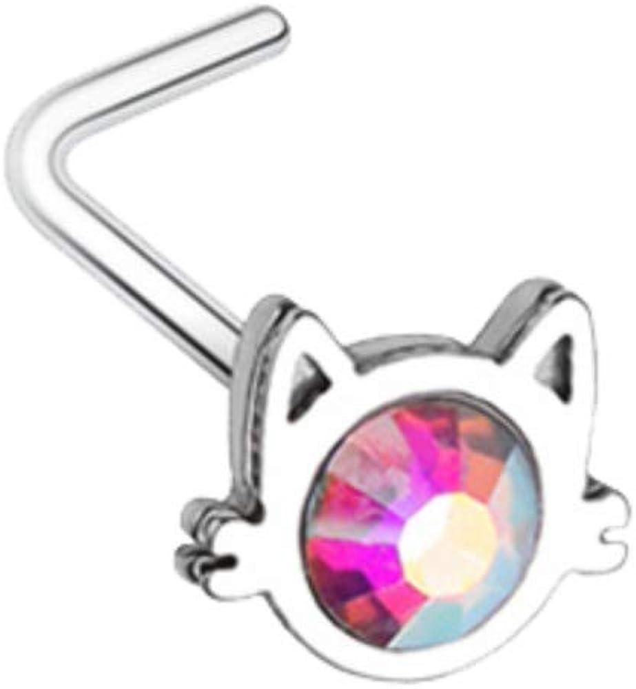 Body piercing Essentiel pink titanium 1.6x10 mm 0.06x0.39 .