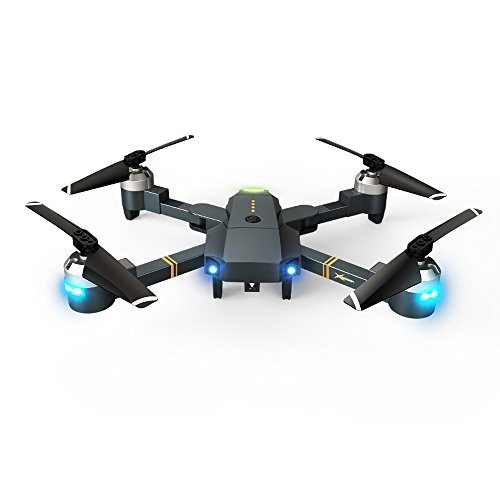Theefun Foldable AR RC Drone with 720P HD Wi-Fi Camera Live Video Feed 2.4GHz 6-Axis Gyro Quadcopter - Headless Mode,Altitude Hold, One Key Take-Off and landing