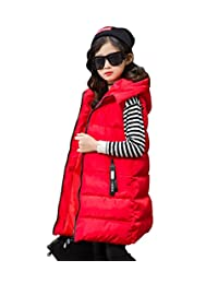 Tortor 1Bacha Kid Boy Girl Fashion Number 5 Hooded Long Winter Puffer Vest