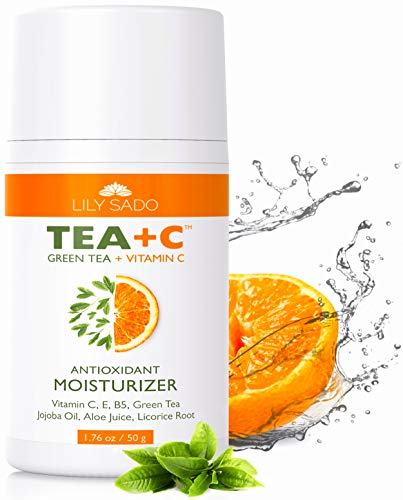 Green Tea and Vitamin C Face Moisturizer Cream - Antioxidant, Anti-Wrinkle Natural Facial Moisturizing Lotion - Softens, Hydrates, Firms & Tones for Amazing, Radiant Skin. For Women & Men