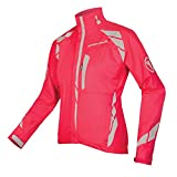 Endura Womens Luminite II Cycling Jacket Hi Viz Pink, Large