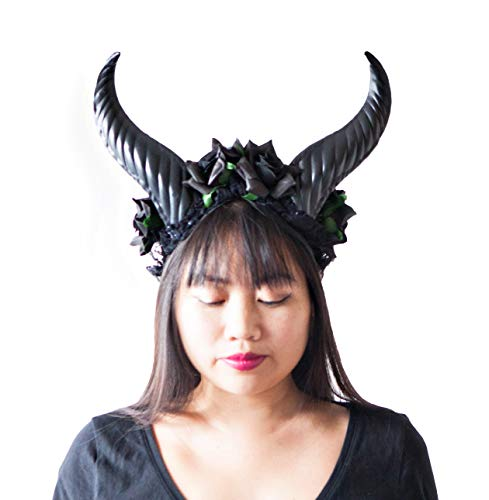 Hit Delights Cute Black Horns Headwear for Costumes, Halloween and -