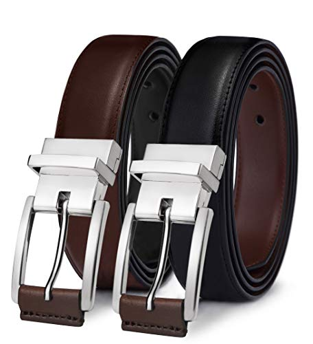 (Men's Belt, Bulliant Leather Reversible Belt 1.25