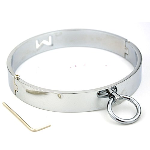 Price comparison product image camaTech STAINLESS STEEL Lockable Neck Collar Slave Restraint Locking BDSM Fetish Costume