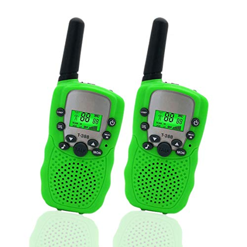 Happy Gift Toys for 4-5 Year Old Boys, Long Range Walkie Talkies for Kids Outdoor Toys Games Gifts for 3-12 Year Old Boys Girls Birthday Presents Gifts(Green)
