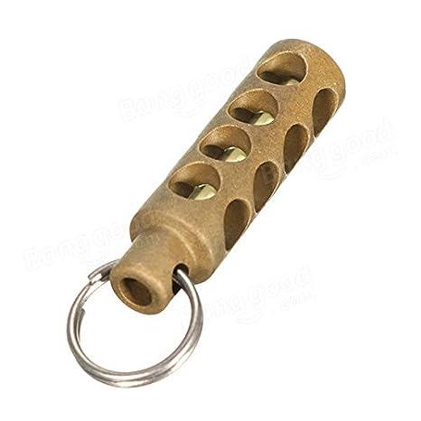 ShopSquare64 - Llavero cilíndrico de latón de cobre con 3 ...