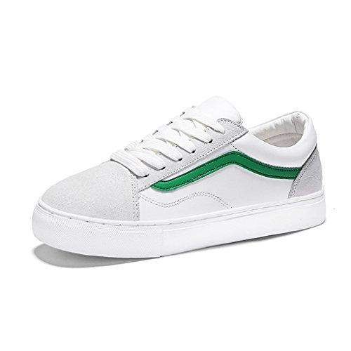 Weiße Platte flache Damen weibliche green Damenschuhe größe Freizeitschuhe Frühling 35 White HWF Farbe Sportschuhe Schuhe YwHfqxZn5
