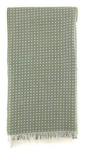 new-cesare-attolini-green-cotton-blend-scarf