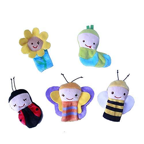 Potelin Premium 5PCS Children Bedtime Storytelling Hand Puppet Plush Toy Baby Finger Comfort Educational Toy