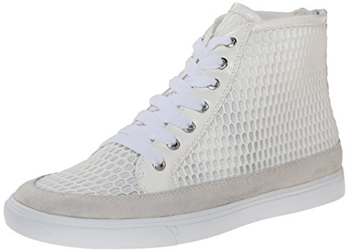 Nine West Womens Bachney Tyg Mode Sneaker Vit / Vit / Vit