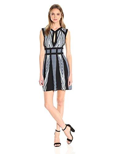 BCBGMax Azria Women's Perla Dress, Blue Sapphire Combo, 10
