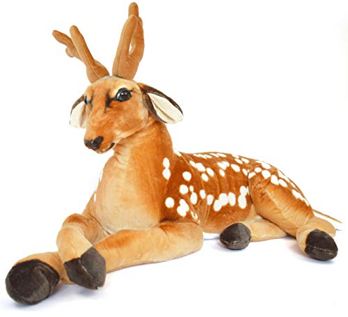 VIAHART Buck The Deer | 3 Foot (Tail Measurement not Included!) Big Stuffed Animal Plush | Shipping from Texas | by Tiger Tale Toys]()