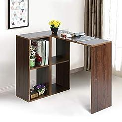 Teraves Modern L-Shaped Desk Corner Comp...