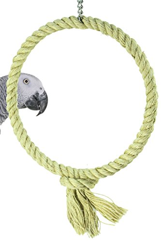 1768 Bonka Bird Toys Medium Sisal Rope Swing natural roost toy toys bird cage cages