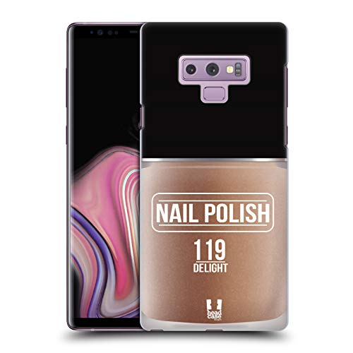Head Case Designs Delight Nail Polish Hard Back Case Compatible for Samsung Galaxy Note9 / Note 9 (Case Phone Nail Polish)