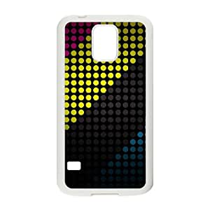 Samsung Galaxy S5 Cell Phone Case White Colorful Stripes fwvx