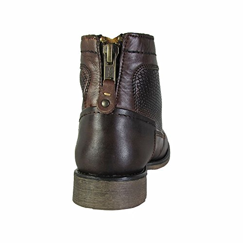 Steve Madden Mens P-Quays Leather Ankle-High Boot Brown OvOxXgbVRN