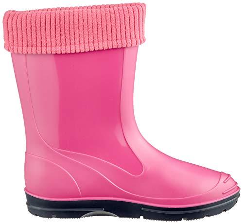 Beck Mujer Rosa de Botas Agua para Pink 06 Basic XwFprYqRX