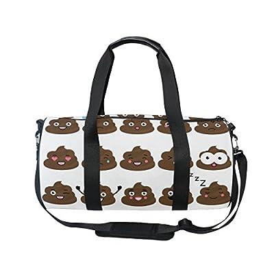 hot sale 2017 Cooper girl Cute Poop Emoji Duffels Bag Travel Sport Gym Bag 4d84bb9a65029