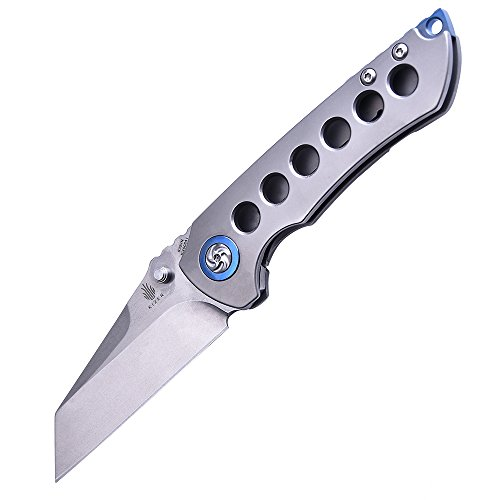 Kizer Cutlery Folding Pocket Knives with Thumb Studs,Titanium Handles EDC Knife,Kizer Critical Matthew Christensen Ki4508A1 by KIZER (Image #1)