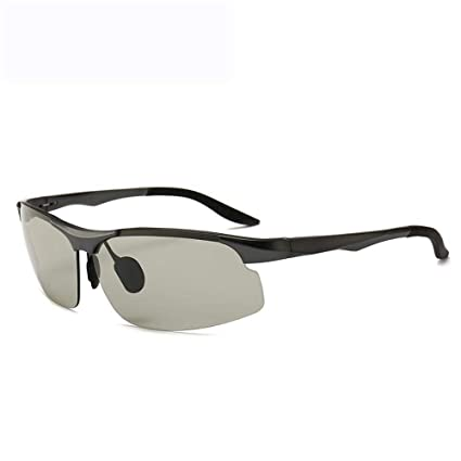 Shisky Gafas Deportivas, Deportes al Aire Libre Resistente Ultravioleta Cambia de Color Aluminio y magnesio