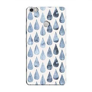 Cover It Up - Raindrops Print Denim Mi Max Hard Case