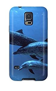 Faddish Phone Dolphins Case For Galaxy S5 / Perfect Case Cover