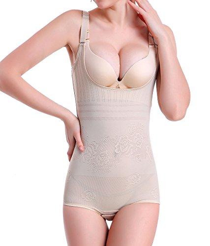 3dec9ab6a399 KSKshape Seamless Body Shaper Open Bust Shapewear Firm Control Bodysuit for  Women - Palmalove