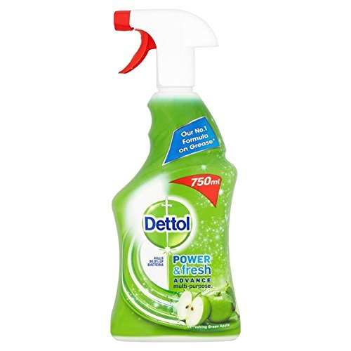 Dettol Power & Fresh Anti-Bacterial Multi-Purpose Cleaner Refreshing Green Apple 500ml Case of 6 by Dettol