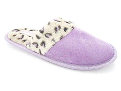Luxury Slip On Mule Slippers,Womens Purple