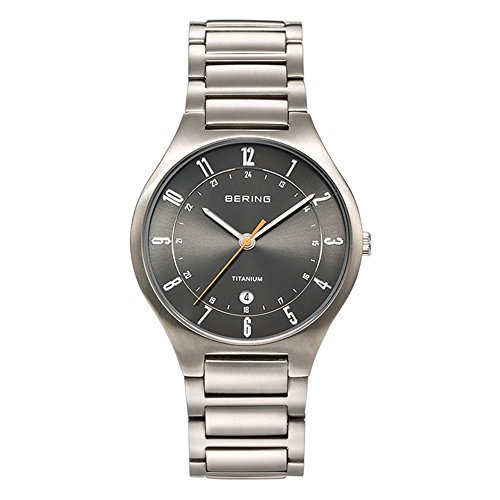BERING Time 11739-772 Mens Titanium Collection Watch with Titanium Band and scratch resistant sapphire crystal. Designed in Denmark.