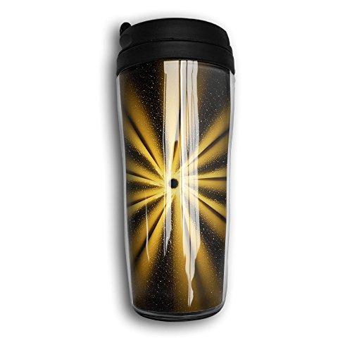 GoldenGolden Round Travel Mugs Heat Insulation 12 Oz Coffee Cups