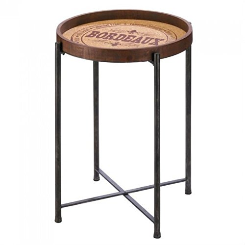 - Gallery of Light Inc Wine-Themed Bordeaux Side Table