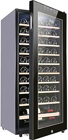 YFGQBCP Inicio Pequeño Bar de Hielo Vino termostato Incorporado, Independiente del refrigerador de Vino Chiller táctil de Control bajo la vibración de bajo Ruido 48 * 49 * 128 cm