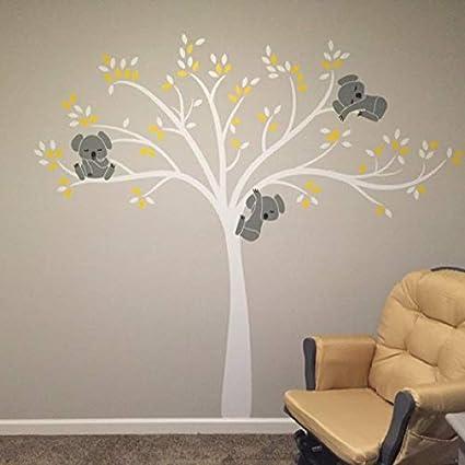 Rose Bdecoll Stickers muraux,Grand Arbre Mignonne Koalas Sticker mural pour b/éb/é chambre d/écoration//autocollant bricolage pour les enfants