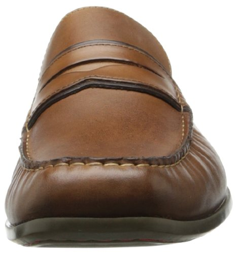 Hush Puppies Circuit Penny Moc Toe Hommes Marron Large Cuir Neuf EU 40