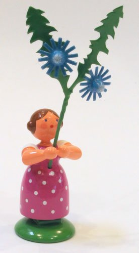 Dregano Corn Flower Girl Figurine Made in Germany