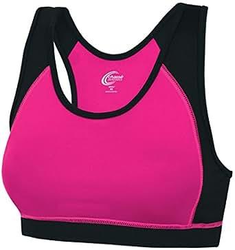 Chassé Womens' Performance C-Fit Sports Bra Bright Pink/Black Adult X-Small