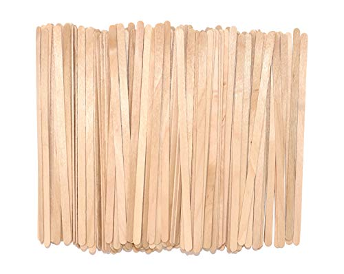 Birch Wood Coffee, Beverage, Hot Drink Stirrers, Eco-Friendly Wood Stirrers, Inches Long, Smooth with Round Ends, Natural Color, 1,000/Box (5.5 Inches)