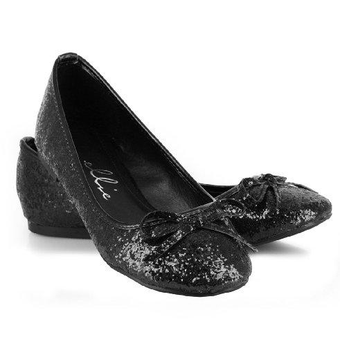 Ellie Shoes Adult Glitter Flat Met Strik