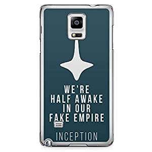 Loud Universe Quote Top Movie Quote Samsung Note 4 Case Inception Movie Samsung Note 4 Cover with Transparent Edges