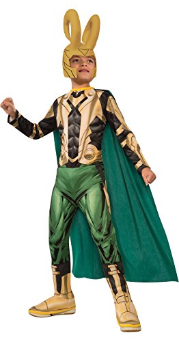 Avengers Assemble Loki Costume, Child's Medium
