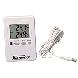 Thermco ACC800DIG MIN/MAX Digital Thermometer for General Use, 0 to 50°C Indoor Range, 0.1°C Resolution