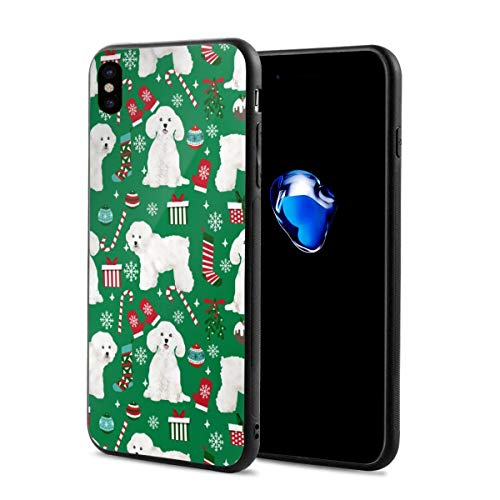 Bichon Frise Dog Christmas Stockings Lovers iPhone X Case, TPU Shell Soft Feeling Full Protective Anti-Scratch Anti-Fingerprint iPhone X Protective Cover Case - 5.8