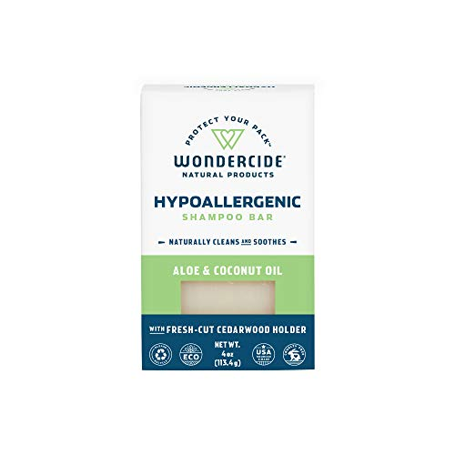 Wondercide Natural Hypoallergenic Pet Shampoo Bar with Aloe Vera - 4 oz Bar
