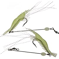 Zide 12PCS Soft Bait Lifelike Shrimp Bait Fishing Lures