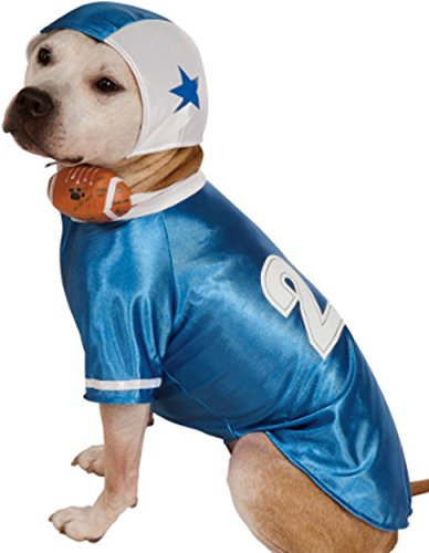 Rubie's Pet Costume, X-Large, Blue Football Player