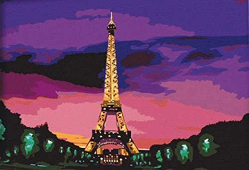 Greek Art Paintworks Paint Color By Number,Eiffel Tower at Sunset,16-Inch by - Address Tower Water