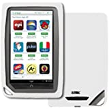 EMPIRE Barnes and Noble Nook Color White Silicone Skin Case Cover [EMPIRE Packaging]