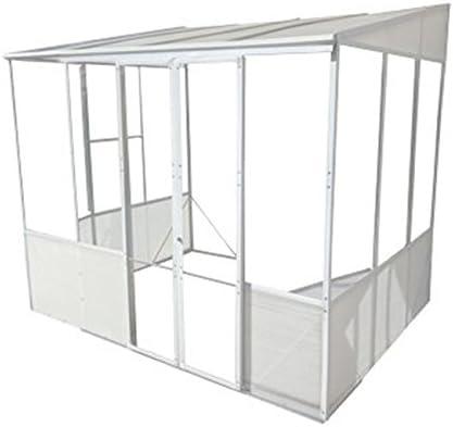 Diy Steel Pvc Garden Room Summer House Lean To Greenhouse 3 5m Wide Amazon Co Uk Garden Outdoors